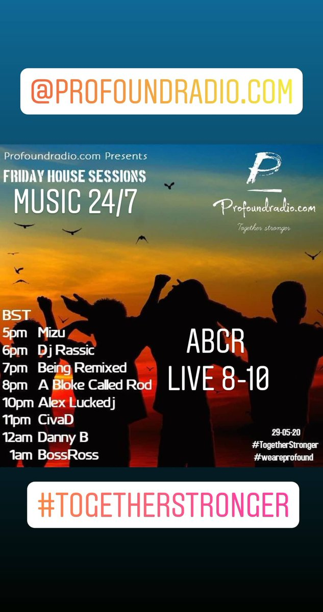Live 2 hour set 8-10pm on http://ProfoundRadio.com   #togetherstronger #profoundsound #proudtobeprofound #strongereverday #weareprofound #deephouse #internetradio #housemusic #house #deephouselovers #deephouseloverspic.twitter.com/Na2kcG5OFw