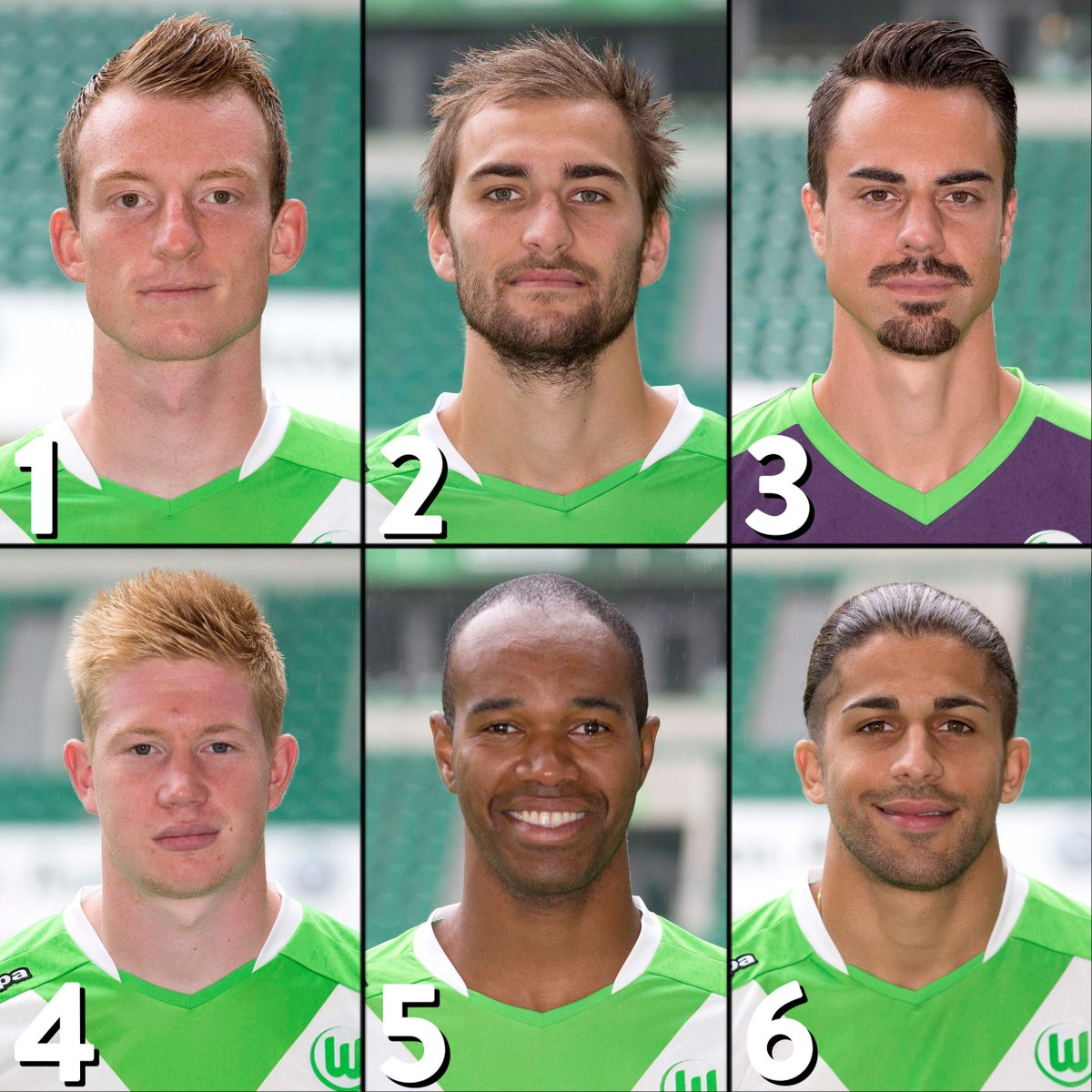 Wolfsburg heroes 2014/15 🐺💚 Pick 2...  1⃣ Maximilian Arnold 2⃣ Bas Dost 3⃣ Diego Benaglio 4⃣ Kevin De Bruyne 5⃣ Naldo 6⃣ Ricardo Rodríguez  #UEL   @VfL_Wolfsburg https://t.co/dbQx0kllyZ