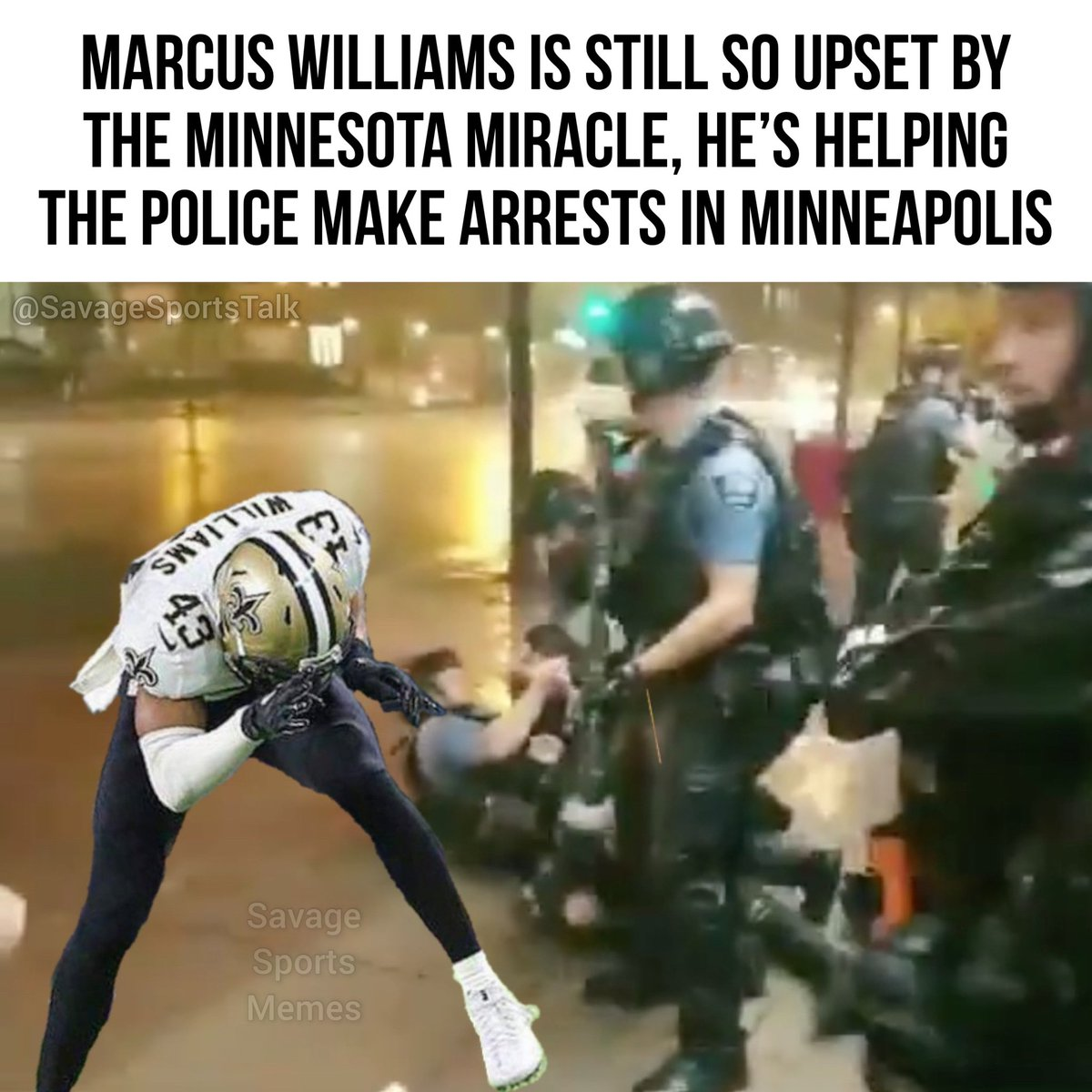 This is some next-level triggered stuff here! . .  #NFL #NFLmeme #NFLmemes #football #footballmeme #footballmemes #meme #memes #sports #sportsmeme #sportsmemes #minneapolis #minnesota #riots #vikings #minnesotavikings #skol #saints #neworleans #whodat #georgefloydpic.twitter.com/uOYpzj2TYn