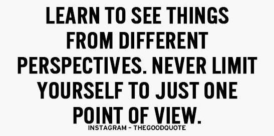 Never limit yourself to just one point of view. Find out why at: relationshipknowledge.com #education #knowledge