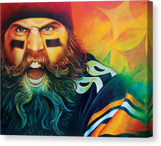 One of this households favorite Steelers ever, and more importantly, seems to be an even better human being. Thanks for all the great memories! Just bought one of these bad boys to hang once we turn our dining room into our Steelers den. #fearthebeard pic.twitter.com/Z5IxCX3sVc