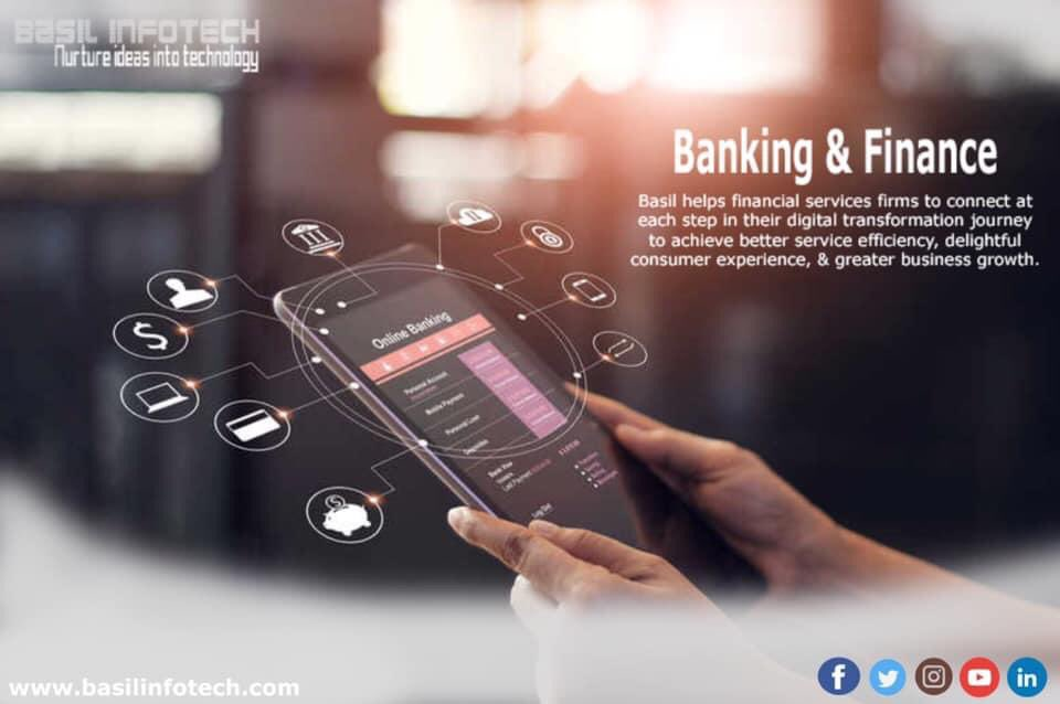 Basil helps financial services firms to connect at each step in their digital transformation journey to achieve better service efficiency, delightful consumer experience, & greater business growth.   Know more: http://www.basilinfotech.com #banking #finance #digitaltransformationpic.twitter.com/5Sv4TWqWSt