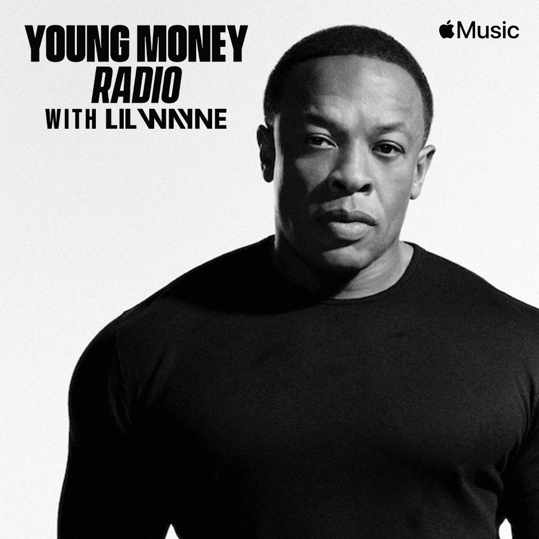 🤯. #YoungMoneyRadio is back at it again on @applemusic today at 4pm PT/7pm ET/11pm GMT with a special episode. One of today's guests: @drdre. This man doesn't EVER do interviews. Also... I'll be dropping NEW MUSIC tonight (deluxe style) so TUNE in and watch LIVE.