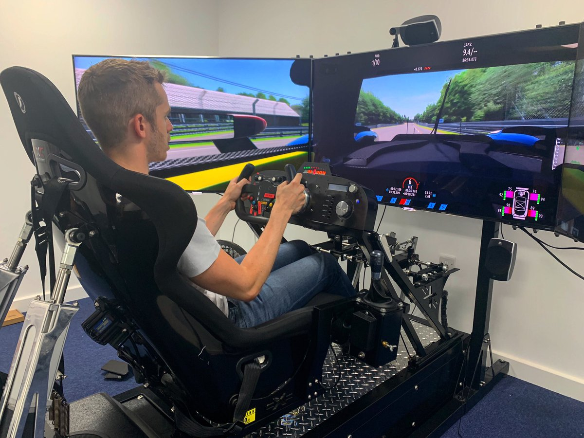 Practice for the #LeMans24virtual is well underway. Alex and Tom were in the workshop today doing some sim laps ahead of the race on 13-14 June.  @AlexBrundle @TomGamble23 @FIAWEC @24hoursoflemans @MSportgames @rFactor2 @EuropeanLMS   #BeUnited https://t.co/TJipTlTW5B