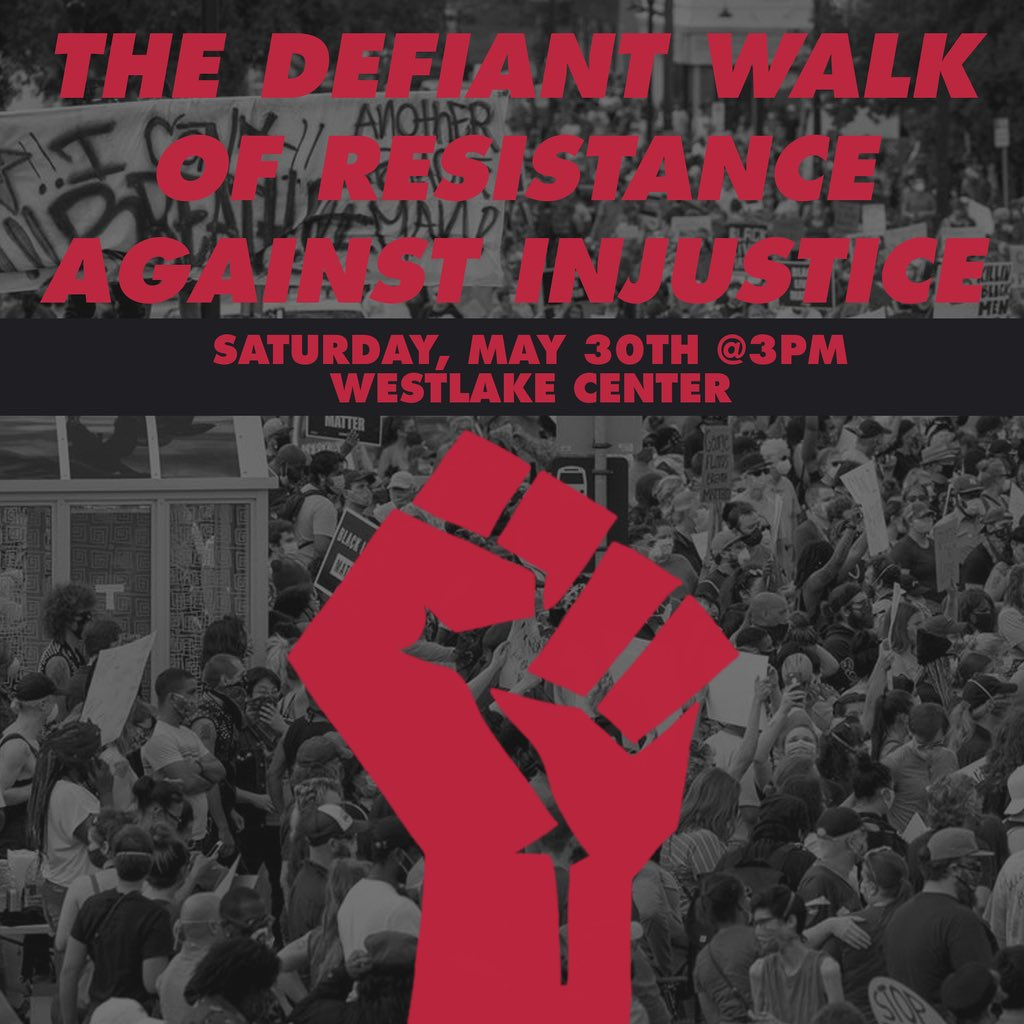 join us this saturday. westlake center, 3pm. practice safety protocol.