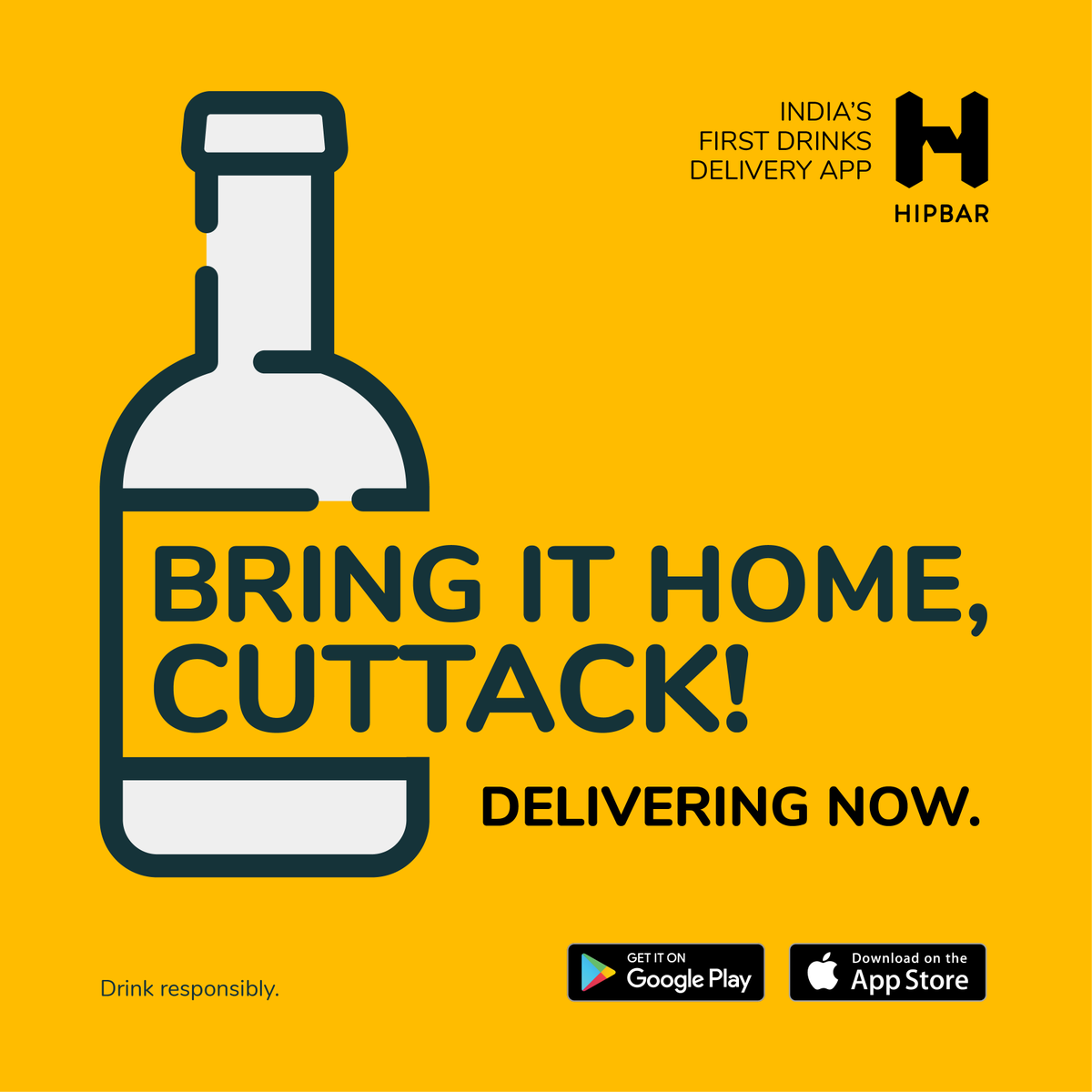 Hey! We now #BringItHome across CUTTACK. Get your favourite drinks home delivered, wherever you live.  Order now - https://t.co/wYCpBlXGFG  HipBar, available on iOS & Android!  #HipBar #Drinks #Cheers #Weekend #OrderUp #HomeDelivery #StaySafe #DrinkRight #Cuttack #Odisha https://t.co/ANue5DExay