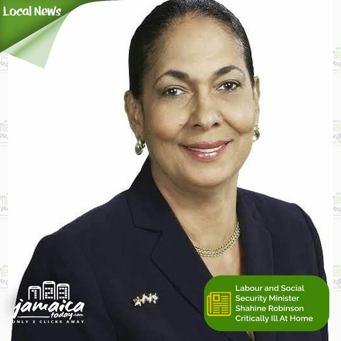 I am heartbroken to learn of the passing of Minister of Labour and Social Security, the Honourable @ShahineRobinson. My sincere condolences to her family, friends, staff and to her JLP family. May her soul rest in peace and light perpetual shine upon her. https://t.co/gzl9X0JCOS