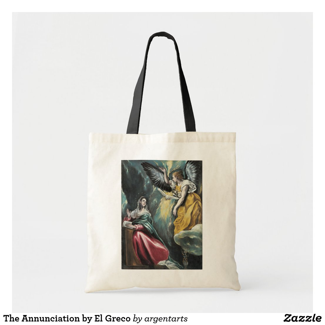 The Annunciation El Greco Tote #Bag  https://www.zazzle.com/the_annunciation_by_el_greco_grocery_tote_bag-149909970162137146?style=budgettote&color=natural_black&rf=238581041916875857 …pic.twitter.com/WcJzZTHuVG