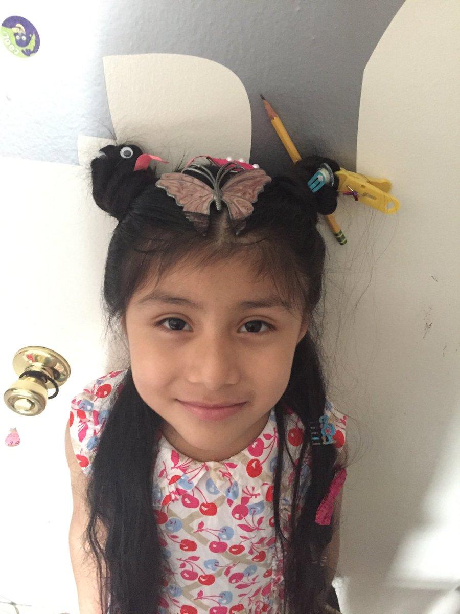 Kindergarten has some crazy hair today! #SpiritDay #KWBpride I miss these kids!