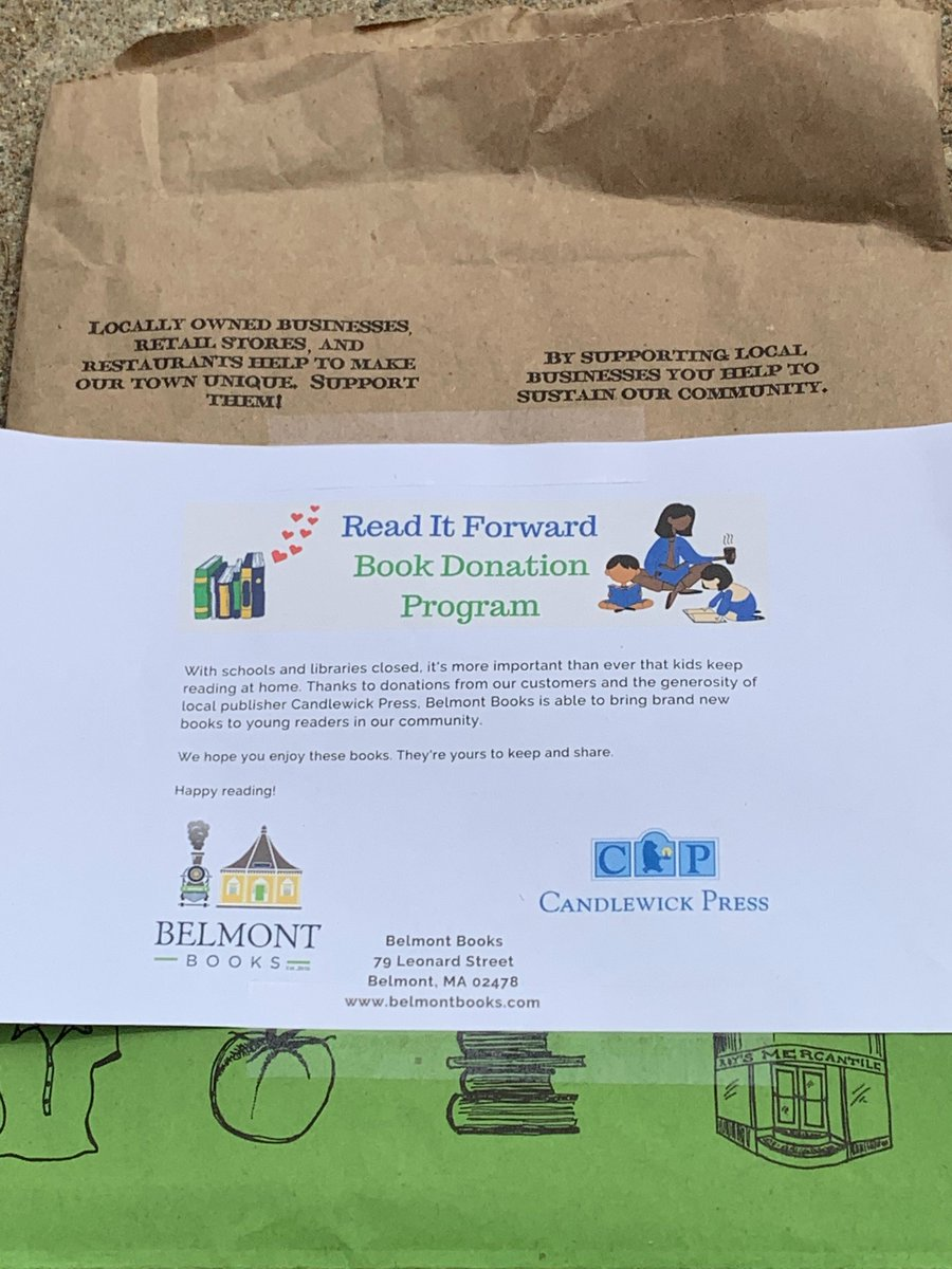 Our first Read It Forward donation to @BPS_Food_4_Kids! Made possible by donations from our community and @Candlewick 💕📚  Want to help your local organizations in need?
