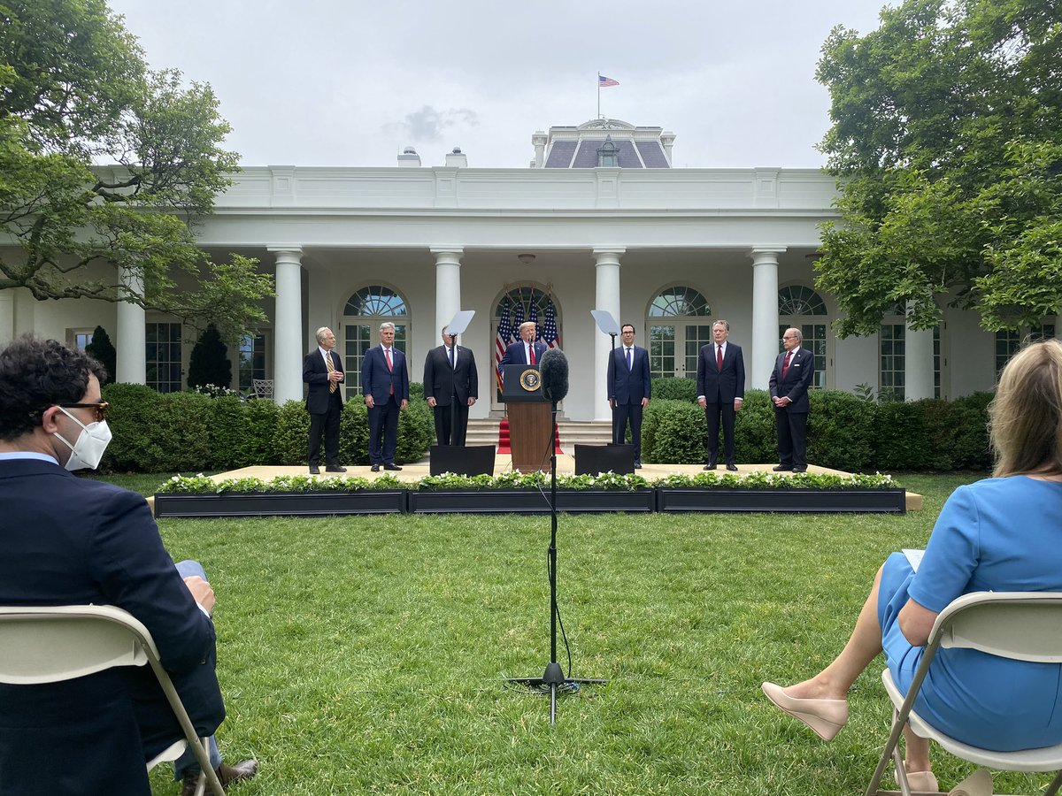 """The President in the Rose Garden: """"I am here to talk about China."""""""