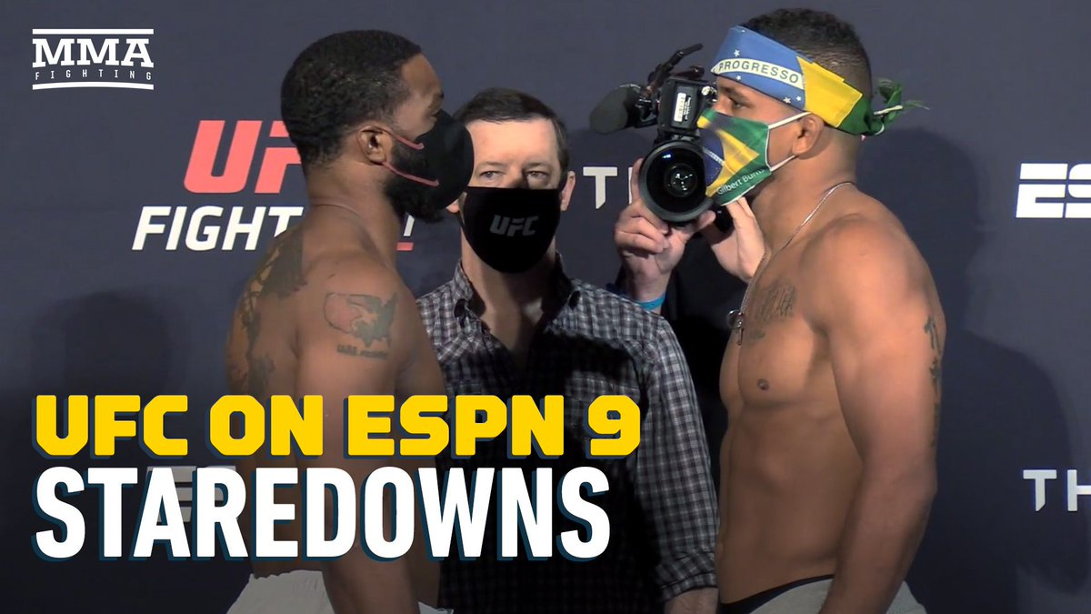 Video: UFC on ESPN 9 weigh-in staredowns https://t.co/8wdXfRQYwK https://t.co/iQy4egRGFr