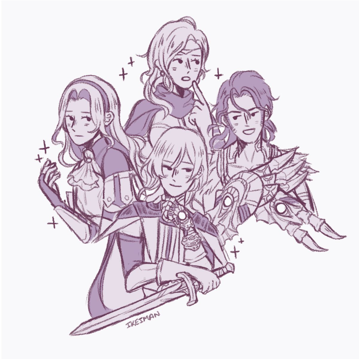 TADAAA- I'm planning on using this as a little bonus for my online store once I get than running d(^_^o) #fe3h #FireEmblemThreeHouses #fireemblem #digitalart #fanart #ashenwolves