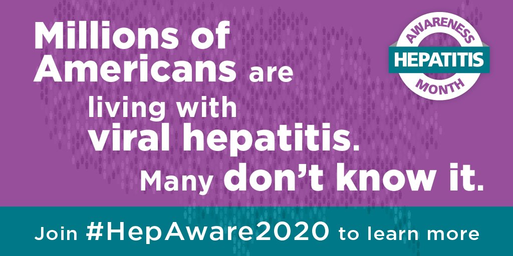 Help others be #HepAware2020 all year long! Find out what you can do to educate others about the ABCs of viral #hepatitis with free resources from @cdchep: https://t.co/NAzjyPFSRf https://t.co/pTaiVRmI6B