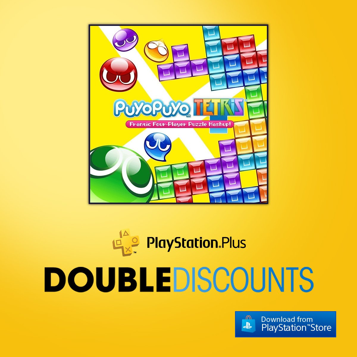 Escape into a world of puzzling adventures in Puyo Puyo Tetris, now 40% off for North American PS+ members!