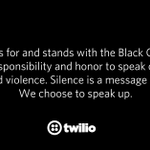 Image for the Tweet beginning: Twilio cares for and stands