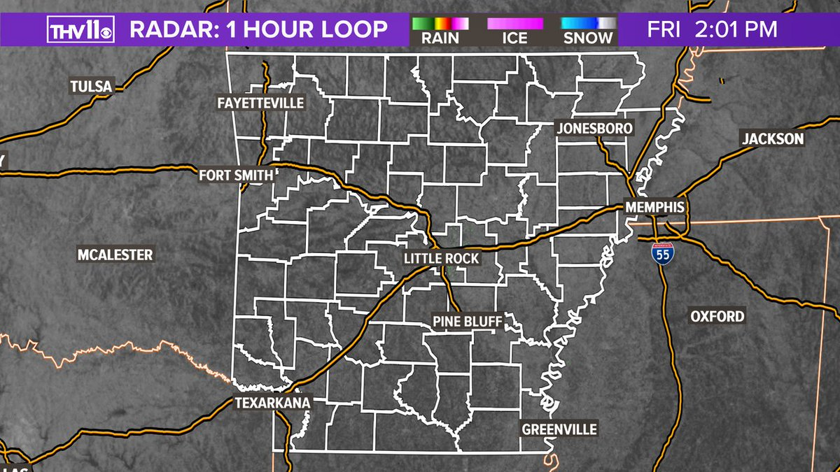 BEAUTIFUL SIGHT: Radar is showing NOTHING. The daily dose of downpours is over for the next several days! #arwx @THV11pic.twitter.com/cZ4oXJ5Q2p