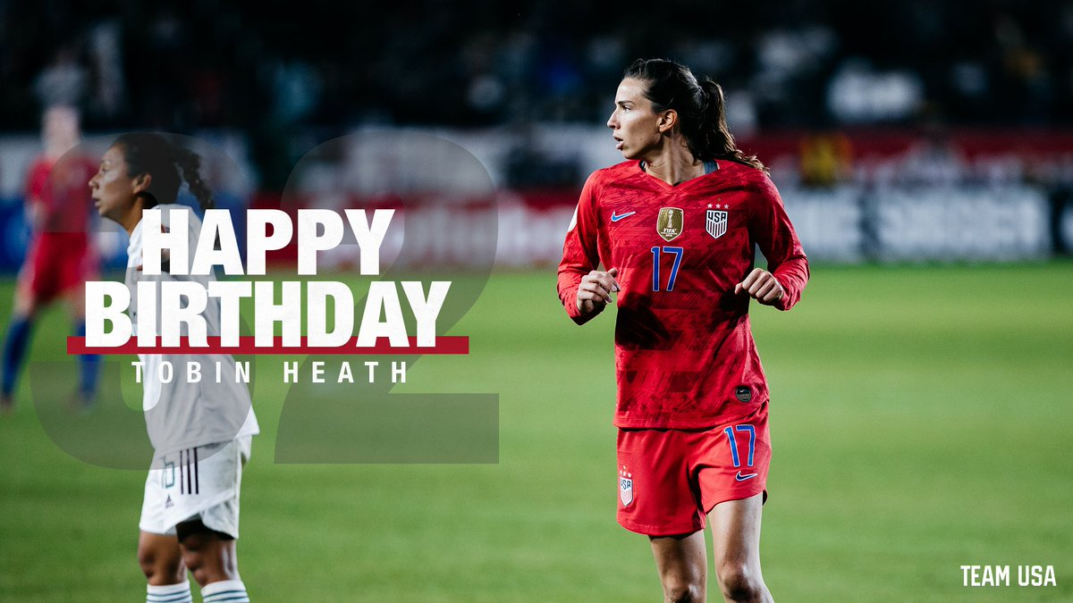Happy birthday to The Maestro of the #USWNT, @TobinHeath! 🎉 https://t.co/l4HnSE8xEs