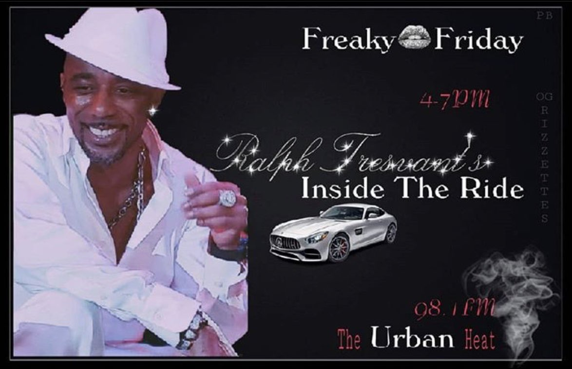 HopOn 98.1FMTheUrbanHeat (YouTubeLIVE) today Sharp for the WeekFINALE of @RalphTresvant 's #InsideTheRide! #Grown&Sexy, #RedCupFriday <<do it...spread it>> <br>http://pic.twitter.com/QYzr1Sy8Gn