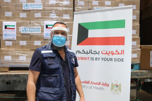 Gratitude to his Highness Sheikh Sabah Al-Ahmad Al-Jaber Al-Sabah, the Amir of Kuwait & the Govt & people of 🇰🇼for their continuous support to the Palestinians & for sending #Covid_19 essential medical supplies delivered through @WHO to the Palestinians @MOFAKuwait