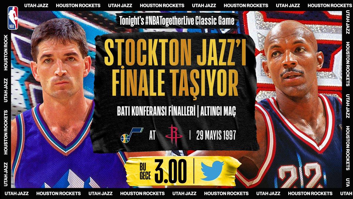 Gecenin #NBATogetherLive Mücadelesinde John Stockton Sahne Alıyor! 🌟  📺 @NBA 🕒 03.00 https://t.co/hbg0AZjfQ6