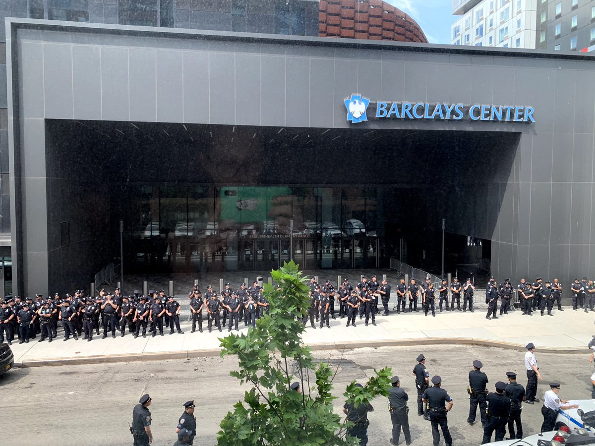 """Friend just sent this to me """"Cops getting ready for tonight"""". brooklynbailfund.org"""