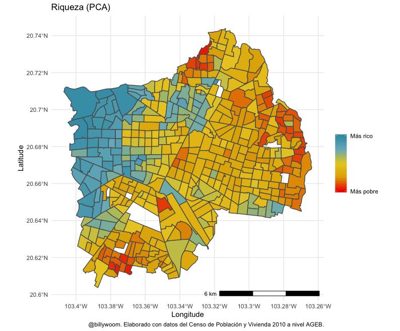 Así se ve la riqueza en Guadalajara. El poniente de la ciudad es más rico que el oriente.   La historia dice que esto es así porque cuando GDL se fundó, segregó a los indígenas del lado oriente.  Achis, achis los mariachis ¿Será? Acompáñenme a ver esta (triste) historia 🧶  1/N https://t.co/uhqyZ08BTc