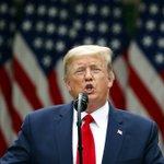 Image for the Tweet beginning: LIVE: President Donald Trump addresses