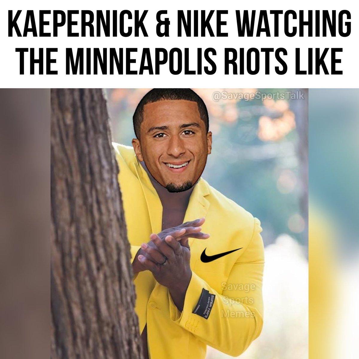 #NFL #NFLmeme #NFLmemes #football #footballmeme #footballmemes #meme #memes #sports #sportsmeme #sportsmemes #minneapolis #minnesota #riots #vikings #minnesotavikings #skol #georgefloyd #justiceforgeorgefloyd #kaepernick #colinkaepernick #nikepic.twitter.com/RykTe5ldDE
