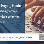 GSA has created buying guides for key products and services that government agencies need to respond to #COVID19 for building screening services, cleaning products and services, and telework and IT. Learn more at https://t.co/ytNAB2J9hd. #governmentcontracting #acquisition