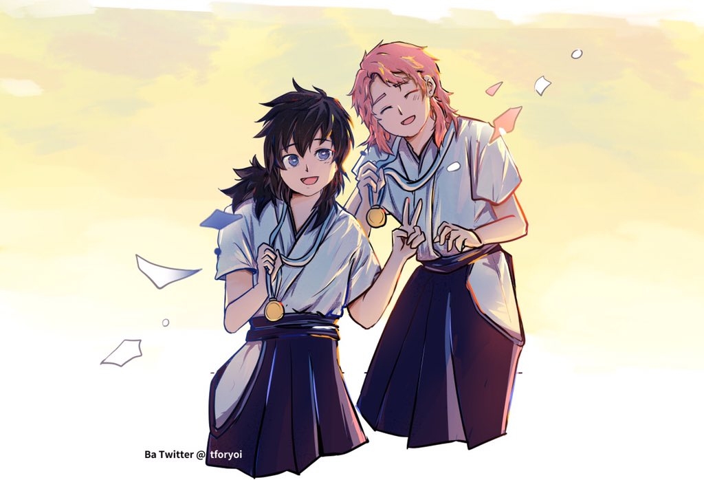 錆義 sunshine Just want to draw Sabito and Giyuu Laughing in sunshine > < Grow up together, after a Kendo match  #Sabigiyuu #Sabito #Giyuu #tomiokagiyuu  #kimetsunoyaiba #錆義 #腐滅の刃 #錆兎 #冨岡義勇pic.twitter.com/slHjpw5wCp