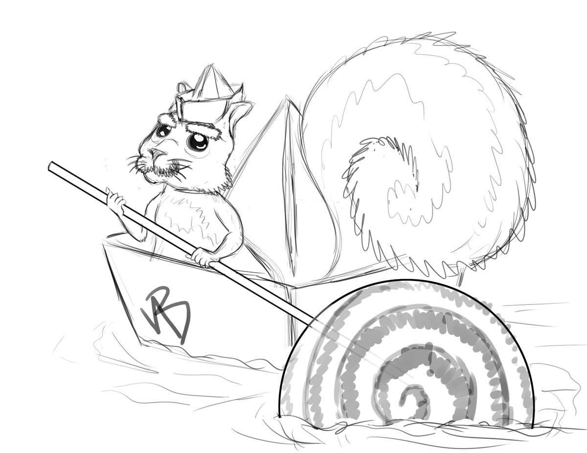 A squirrel boat captain #sketch for @TsundereDroid as I finally catch up on my #art. #CommissionsOpen as always, consider a RT for a #StarvingArtist. pic.twitter.com/mKXf8im7QU