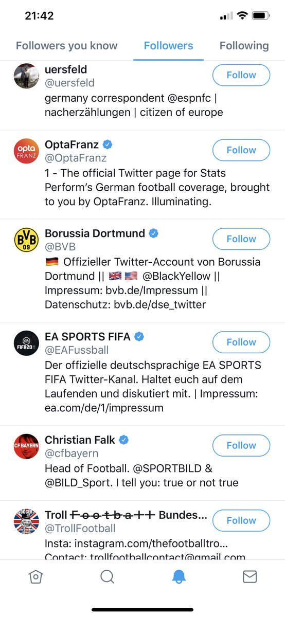 The outlet @spox are actually followed by Dortmund themselves.