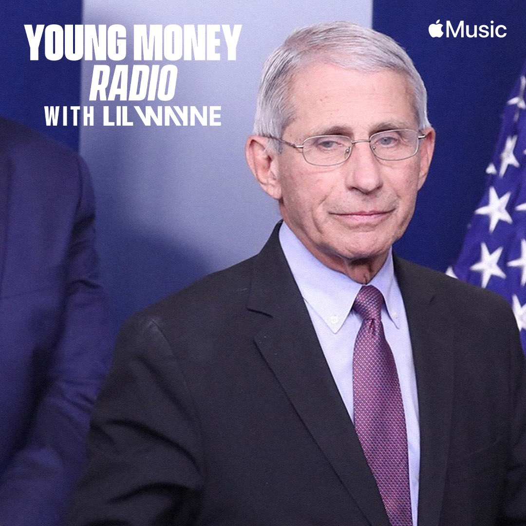 We have two doctors on the show today — Dr. Dre, and the head of the National Institute of Allergy and Infectious Diseases DR. FAUCI! He'll be on to have a REAL discussion about its affect on our community. Watch LIVE on #YoungMoneyRadio at 4pm PT/7pm ET on @applemusic. 🤙🏾