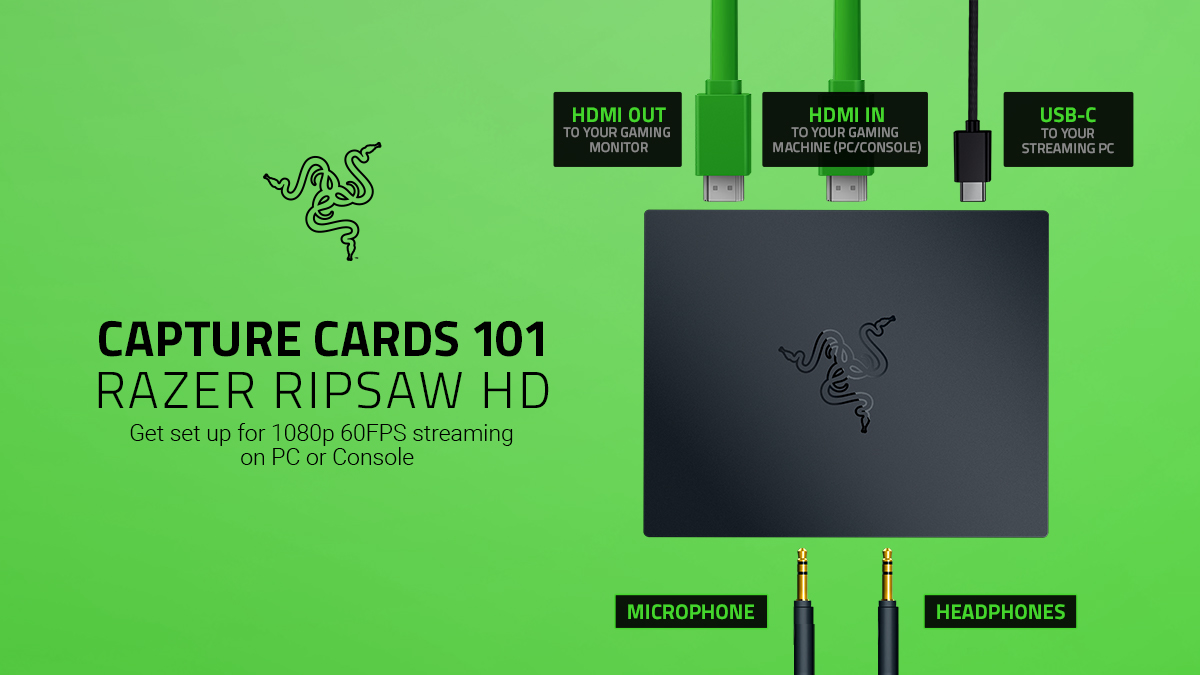 """R Λ Z Ξ R on Twitter: """"High-quality streaming has never been easier––the Razer  Ripsaw HD is an easy-to-use capture card, with full control and  customization, and compatible with any PC or"""