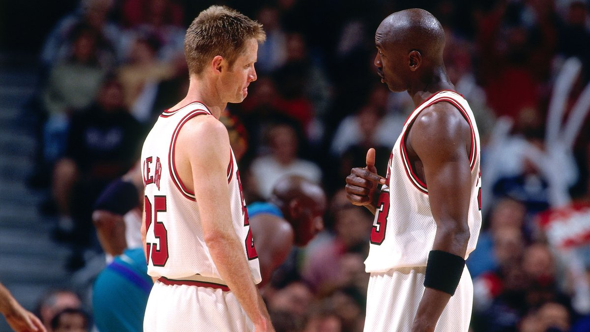 """Steve Kerr's memory of what happened after his fight with Michael Jordan is different than what MJ described on """"The Last Dance"""" 🤔  https://t.co/lWupfrh0y0 https://t.co/Q37CVXafrJ"""