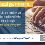 📢 STATE AND LOCAL GOVERNMENTS!   ✅ Get the materials and services you urgently need to continue mission critical work through GSA MAS Purchasing Programs.   👉Learn more at https://t.co/ytNAB2rypF.