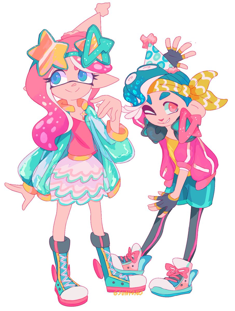 For the outfit contest on the splat2 amino, went through a million sketches but I'm really happy with the result! 🎉🎉🎉 #Splatoon #Splatoon2 #Nintendo #NintendoSwitch