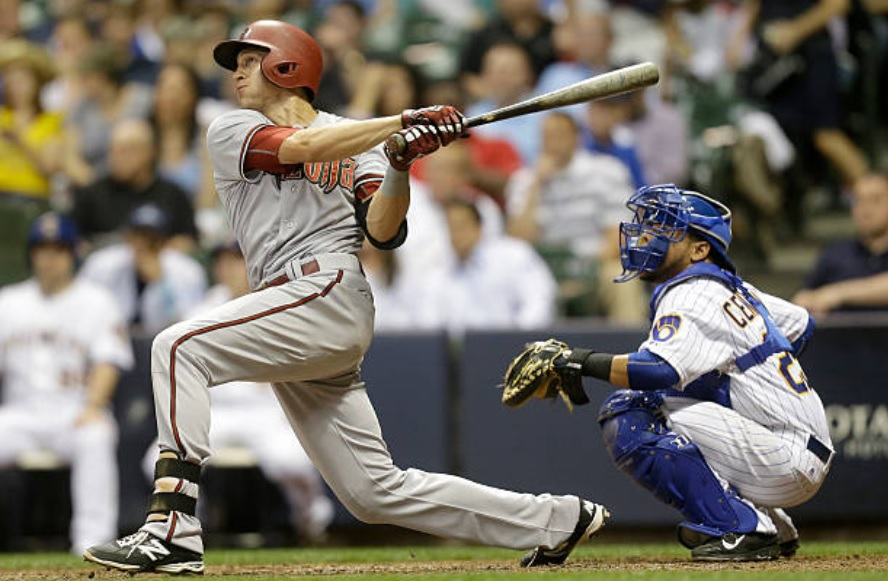 5/29/15 – Paul Goldschmidt hit 3 2Bs (scoring 2 R's), raising his batting average to .337, but it was Nick Ahmed's 8th inning, tie-breaking HR that proved the #DBacks game-winner as they defeated the Milwaukee Brewers, 7-5. After the game, Chip Hale said he called it. #RattleOn pic.twitter.com/E2GYUNVBzi