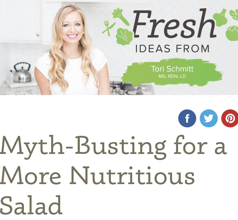 Just because #nationalsaladmonth is coming to an end doesn't mean you can't still make Amazing salads at home! Our friend @torischmittrdn put together a blog to share some Myth-Busting tips for making a more nutritious salad.  Full Blog Post here👉🏻 https://t.co/6GF8l41192 https://t.co/0W1EFuNE9m