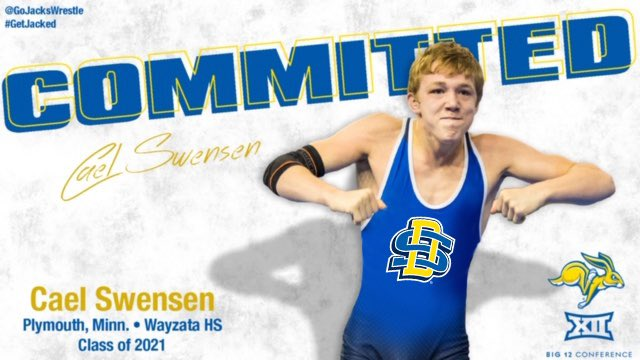I am blessed to announced that I will be continuing my academic and athletic career at South Dakota State University and wrestling in the Big 12 conference. #GetJacked https://t.co/fGAXUCwGR4