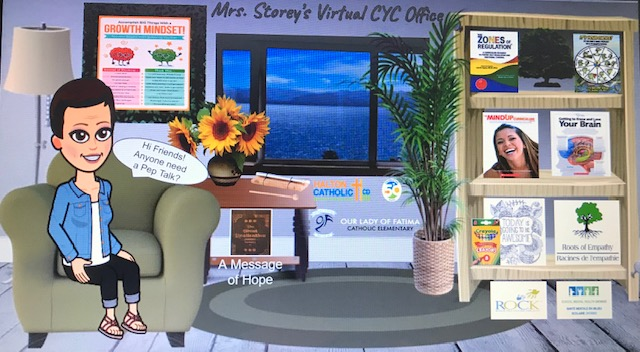 """So excited to share my new """"Mrs. Storey's Virtual CYC Office"""" with @OLFMilton!! Just click around the """"room"""" to access different program links, videos and activities!! #TogetherApartHCDSB @GBrown64 @bird_rosanna @HCDSB_CYCs #SocialEmotionalLearning  https://docs.google.com/presentation/d/1Q0rRmNFKw22o8ZwBvIW0pZFh8dTzAhGdpQjNw7XXMps/edit?usp=sharing…pic.twitter.com/Jv4E3XKnD8"""