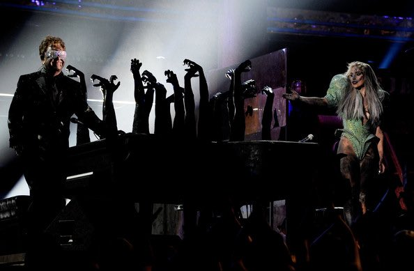 Gaga and Elton performing #SineFromAbove  at the 2021 #GRAMMYs. I would like to see that.  <br>http://pic.twitter.com/vBvHffutdk