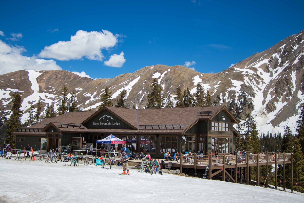 """Arapahoe Basin on Twitter: """"Black Mountain Lodge and the 6th Alley Bar & Grill are now open with outdoor seating, with limited food and beverage service!… https://t.co/4aZxUAuv45"""""""