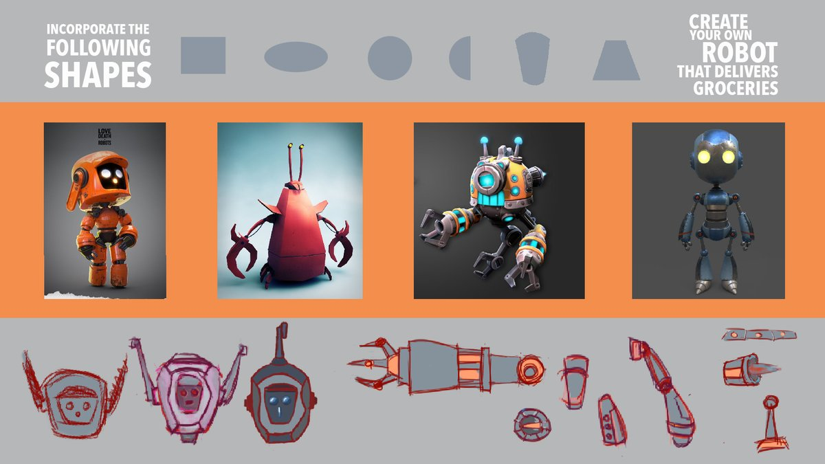 A Stylized Robot That Delivers Groceries-Lesson demonstrates the power of incorporating aspects of our references into our #DesignProcess, prototype design can be built on incorporating simple shapes together #OntEd  #LearnFromHome #distancelearning  https://youtu.be/xihN6Zv1PXEpic.twitter.com/R5UE9l5kUP
