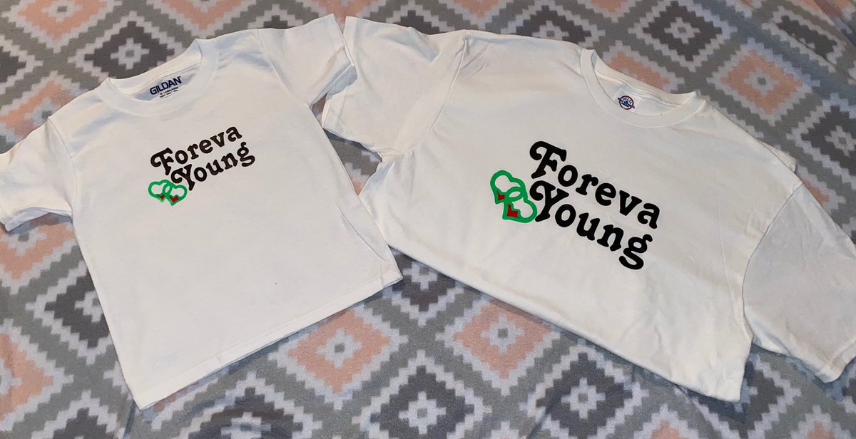 """Father's Day is around the corner!! Get your """"Daddy and Me"""" ForevaYoung💚❤️ Shirts!!   Inbox for more details!! Also available in other colors!   #ForevaYoung💚❤️ #Support #SmallStartUpBusiness #Share #Like #OrderYoursToday!   Orders over $100 receives free shipping! https://t.co/xJXZHSx5aa"""