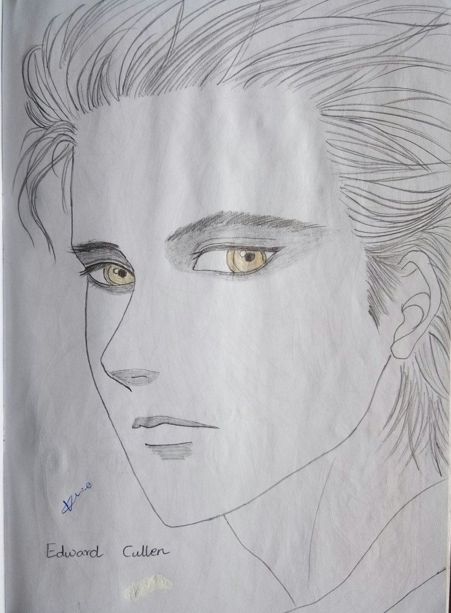 Edward Cullen from Twilight Light Novel! This was a very challenging art that took me hours to finish! #drawing #TraditionalDrawing #manga #art #traditionalArt #Lineart #Twilight #LightNovel #TwilightLightNovel #EdwardCullen #TwilightSaga #Vampire #Portrait #PortraitArt pic.twitter.com/nqx3Pb0fSk