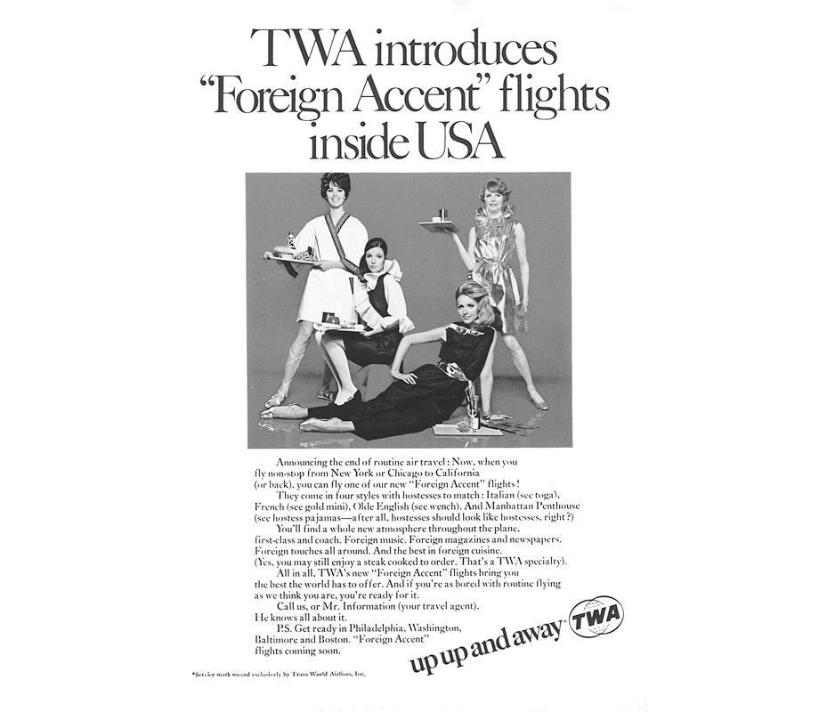 """Since international flights aren't coming back for a while, perhaps US airlines could bring back """"foreign accent"""" flights to bring back some of the fun.  """"Olde English (see wench)"""" pic.twitter.com/fSFPfSebCL"""