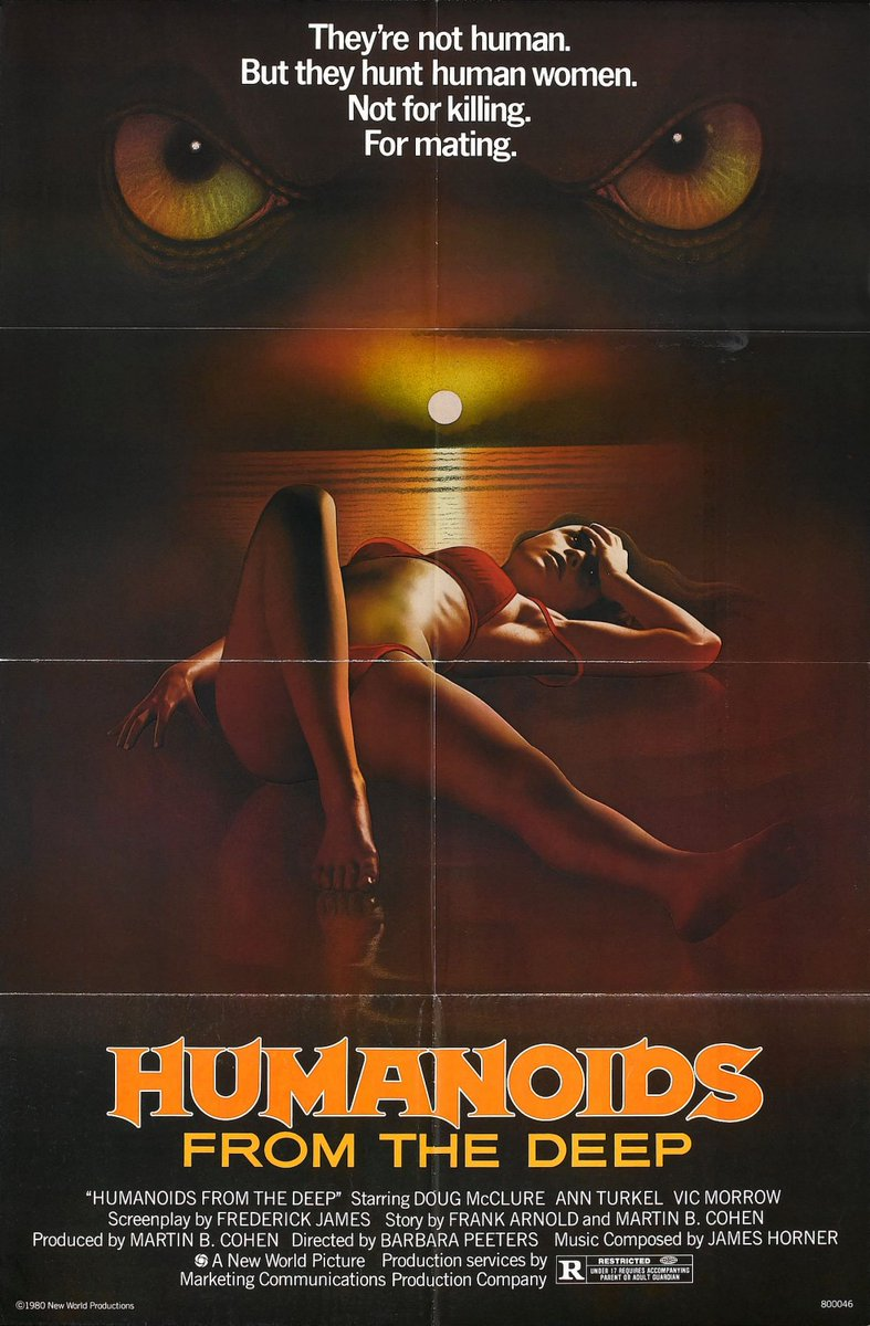HUMANOIDS FROM THE DEEP (1980) #horror #scifi pic.twitter.com/V1A8WCtW8i