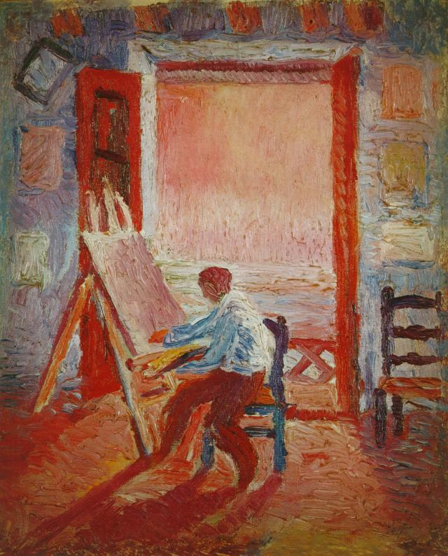 Self-Portrait in the Studio, Salvador Dali, 1919 #salvadordali #dali pic.twitter.com/HxPK7gP9VV